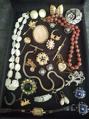 Georgian, Victorian, art deco, Vintage jewellery watch chain brooches necklaces