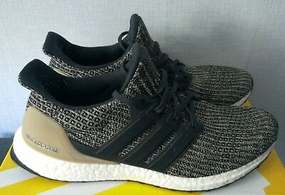 check out aee1d 4c310 ADIDAS ULTRA BOOST 4.0 Mocha/Raw Gold/Core Black Men's Trainers UK 9 With  Box