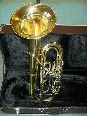 """""""HELIOS""""  BELLFRONT BARITON -Messing lackiert-Goldmessing Mundrohr- Monelventile"""