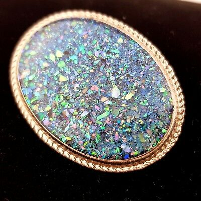 Vintage Jewellery Stunning Abalone Shell Chip Brooch