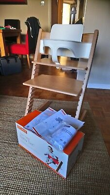 STOKKE TRIPP TRAPP High Chair c/w Baby Set - Immaculate!
