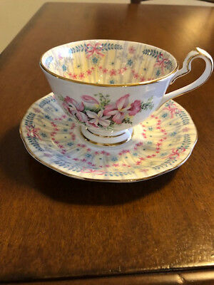 Vintage/antique Queen Anne Royal Bridal Gown Bone China Cup And Saucer English