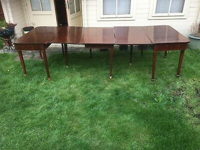 Antique George III Regency period mahogany D end dinning table Circa 1780-1800