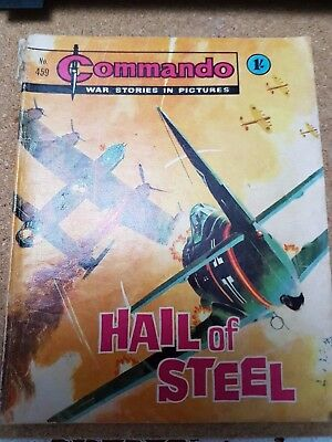 COMMANDO #459 HAIL OF STEEL by DC THOMSON.FREE UK POSTAGE
