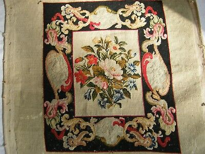 Beautiful Antique Tapestry 19th C Floral Rococco Aubusson French shabby chic