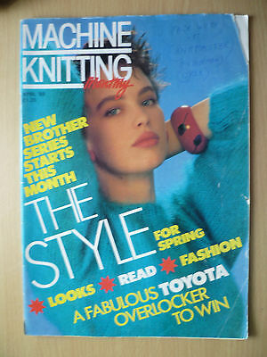 MACHINE KNITTING MONTHLY Magazine April 1989