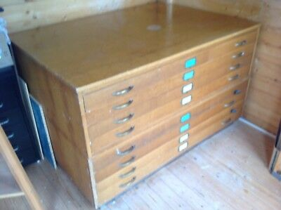 Vintage map chest plan drawers