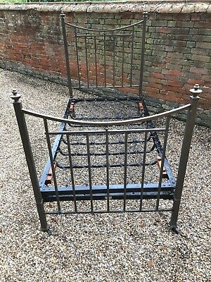 Antique, Edwardian Brass Bed