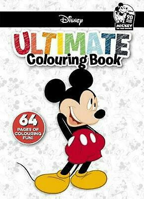 Disney Mickey: Ultimate Colouring Book Paperback Book Free Shipping!