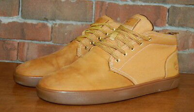 ccfc81ec19b MENS SIZE 11 Timberland Groveton Leather and Fabric Chukka A1115 Wheat