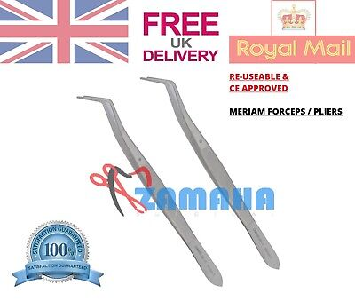 Thumb Meriam Cotton Tweezers X 2 Tissue Dressing Pliers Surgical Dental Forceps