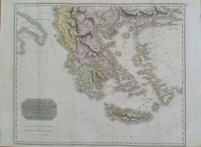 Southern Part of Turkey in Europe Drawn for Thomsons New General Atlas 1817