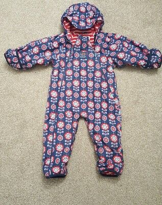 Girls Jojo Maman Bebe All In One/Snowsuit Age 12 - 18 Months