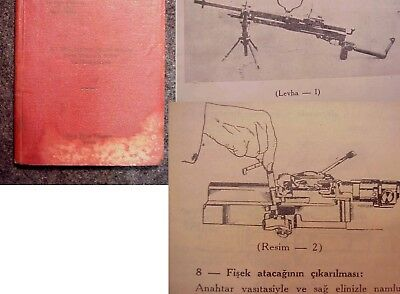 Turkish Hotchkiss machine gun manual, original