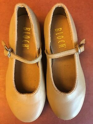 "Bloch Child ""Tap-On"" Beige Buckle Tap Shoes Size 11 1/2"