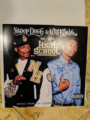 Wiz Khalifa Signed Mac And Devin Go To High School.12X12 Album Cover Photo Proof