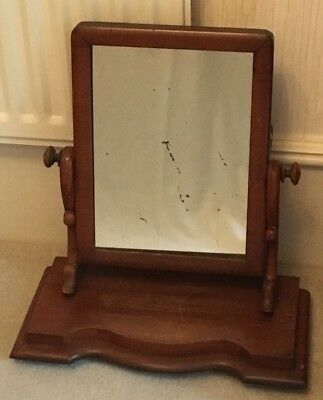Antique /vintage  Victorian/edwardian Mahogany Swing Toilet Mirror