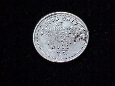 4th Infantry Post Exchange Arizona AZ T.C. Wood Indian Wars military token
