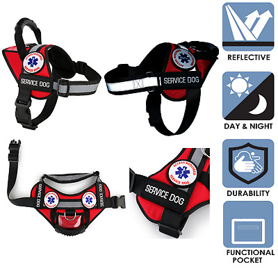 ALL ACCESS CANINE™ Service Dog Vest Harness Reflective Waterproof No-Pull Handle