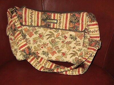 Longaberger Shoulder Bag Hobo PURSE - Side Pockets - Autumn Path Quilted NEW