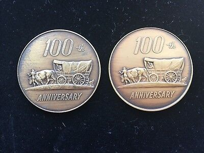1973 100th Anniversary Coin Lot 2 - Oelwein, Iowa & Hazelton, Iowa