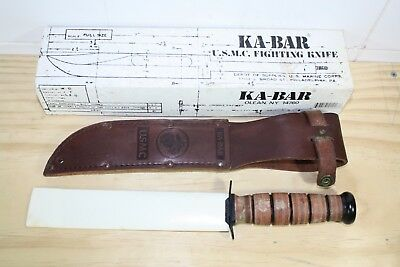 U.s Military Marine Corps Ka-Bar Knife & Sheath Kabar Usmc Combat Knife - Lot B