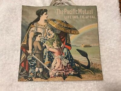 Vintage Pacific Mutual Life Insurance Co. Of California Paper Advertisement