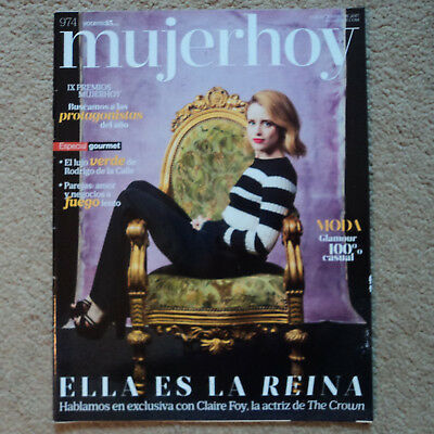 CLAIRE FOY Meghan Markle mujer hoy 974 diciembre 2017 Spanish magazine