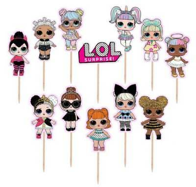 New Lol Surprised Doll Cake Topper Birthday Decoration Party Supplies Balloon