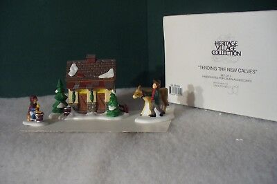 Dept 56 Dickens' Village Collection Tending The New Calves  Item # 58395 NEW MIB