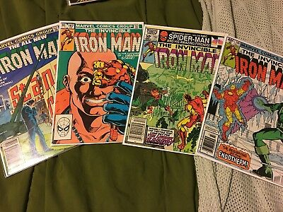 Invincible Iron Man Lot! bronze age Lot Of 4 Marvel Comics