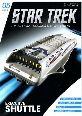 STAR TREK EXECUTIVE SHUTTLE Spacedock Eaglemoss Raumschiffsammlung Enterprise xx
