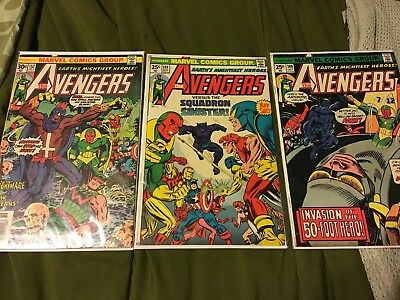 The Avengers bronze age Lot Of 3 Marvel Comics