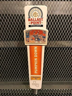 BALLAST POINT BREWING Co ~ Pumpkin Down Ale ~ Skeleton Beer Tap Handle