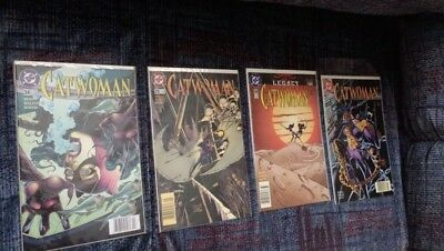 Catwoman (1993 2nd Series) Run #34-37 Excellent Condition Bagged and Boarded