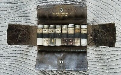 Antique Medical Apothecary Kit Case The Home Medicine Pharmaceutical case Drugs