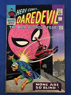 Daredevil #17 (1966 Marvel Comics) Spider-Man appearance Silver Age NO RESERVE