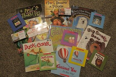 Scholastic Listening Center Lot of 5, paperback children's book and audio