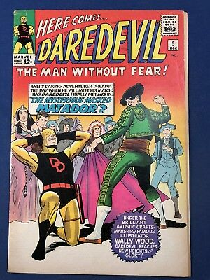 Daredevil #5 (1964 Marvel Comics) 1st sappearance of the Matador Silver Age