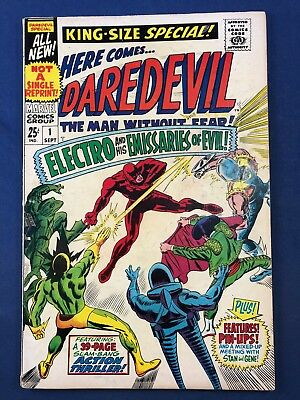 Daredevil Annual #1 1967 Marvel Electro Stilt-Man Frog Man Gladiator appearance