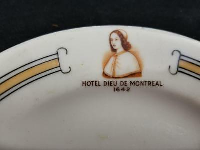 1954 Syracuse China Hotel Dieu De Montreal OLDEST Hospital Topmarked Plate