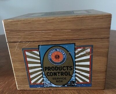 VTG General Mills Gold Medal Bakers Service Products Control Service Recipe Box