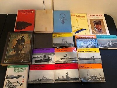 Huge lot of Vintage Military Books Navies of the Second World War, Civil War,