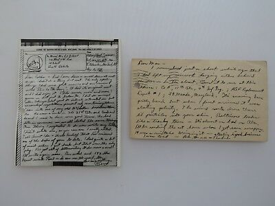 Wwii Letter Kia Letter Killed In Action 102 Infantry Div 405 Reg