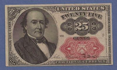 1874-1876 5th Issue 25¢ Fractional Currency,FR1309,Walker Bust,CH Crisp XF,Nice!
