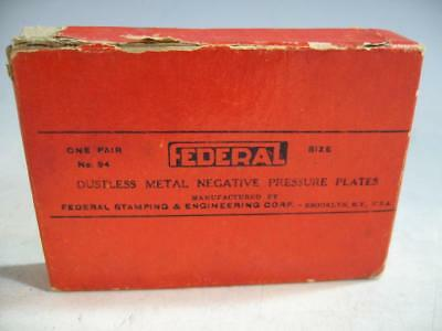 Federal Enlarger Dustless Metal 35MM Negative Pressure Plates No 94 In Box #70