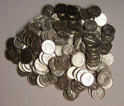 Canada - $9.10 of Canadian 5 Cents Beaver Nickels - 182 Pieces Total