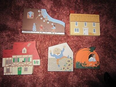 CATS  MEOW Village Houses & Old Woman Shoe 5 Nursery Rhyme Series X 5