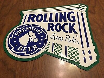 "Vintage Rolling Rock Beer Horse's Head Sign 16"" by 16""  NEW"