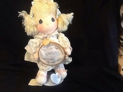 Precious Moments Mother 1986 Katie Doll Applause With Tags W Stand